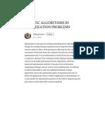 Genetic Algorithms in Optimization Problems – Göktuğ Sultan – Medium