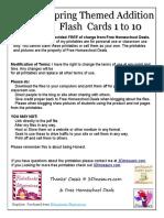 Spring Addition Flashcards Fhd