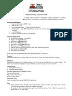 CALL for QUOTATIONS _ Simulator Training Program for A330