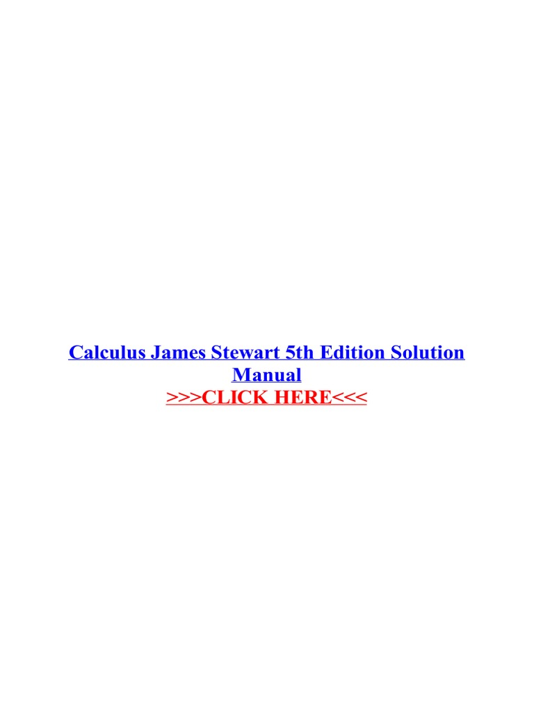 Calculus James Stewart 6e Solutions Manual