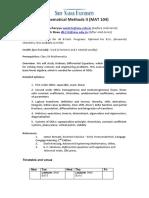Course Details Math Methods i i