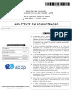 Prova Assistente em Administração UFPB 2019