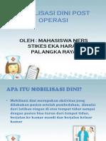 Mobilisasi Dini Post Operasi