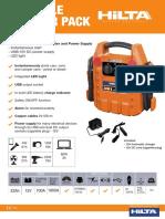 Hilta Portable Booster Pack Spec Sheet