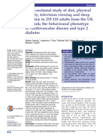 1 - Cross-sectional Study of Diet, Physical Activity, Television Viewing and Sleep Duration in 233 110 Adults From the UK Biobank; The Behavioural Phenotype of Cardiovascular Disease and Type 2 Diabetes-1
