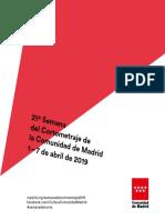 Actividades Formativas 2019-Semana Del Cortometraje de La Comunidad de Madrid
