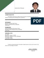 Resume Arjay