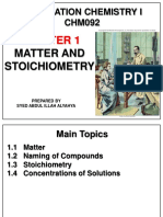 Matter and Stoichiometry