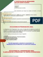 IO Planificacion de Produccion y Control de Inventarios Con Solver