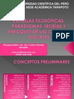 ESCUELAS FILOSÓFICAS, PARADIGMAS, TEORÍAS Y ENFOQUES DE LAS CIENCIAS SOCIALES