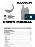 Baofeng Bf t1 Users Manual
