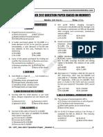 CA CPT Question Paper