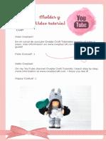 Moldes muñeca rusa totoro