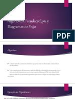 Algoritmos, Pseudocódigos y Diagramas de Flujo Zaida