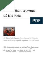 Samaritan Woman at the Well - Wikipedia