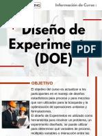 Curso Diseño de Experimentos (DOE)
