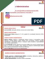 Slides Aula 01 Inss Vip Direito Administrativo Tatiana Marcello