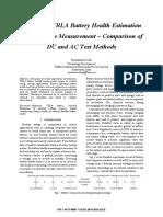 Articulo IEEE Medición de Resistencia Interna VLRA