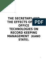 Secretary Effective Work Research