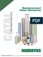 Numatics Catalogo Elementos Filtrantes de Reemplazo Oem