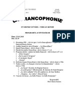 Program Francofonie