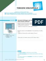 et la période T. Calculer la fréquence f et les valeurs efficaces de la tension et de l intensité..pdf