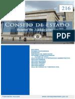 Boletín de jurisprudencia  Consejo de Estado No 216 de 2019