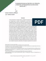 O contexto multidisciplinar da prática da Terapia Ocupacional frente ao paradigma da inclusão escolar
