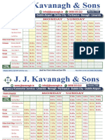 JJ Kavanagh & Sons Limerick to Dublin Bus Timetable
