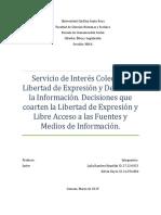 Interes colectivo y difuso. Libertad de expresión y derecho a la informacion.docx