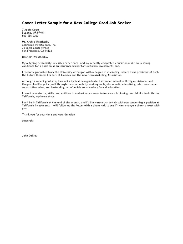 Cover Letter Recent College Graduate from imgv2-1-f.scribdassets.com