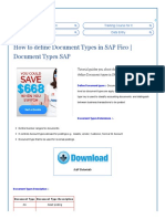 How to Define Document Types in SAP Fico _ Document Types SAP - SAP Training Tutorials
