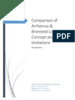 Comparison of Arrhenius