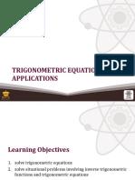 (20) Trigonometric Equations and Applications