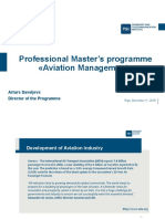 TSI Aviation management - masters degree introduction