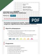 Management Qualite Dans Les Dispositifs Medicaux (1)