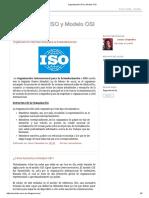 Organización ISO y Modelo OSI