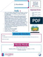 weekly newsletter april 8th 2019