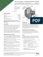 528 410 Falk True Torque Type HF41,HF42,Sizes 185 420, 1420 Fluid Couplings Installation Manual
