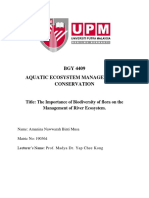 AQUATIC ECOSYSTEM MANAGEMENT & CONSERVATION