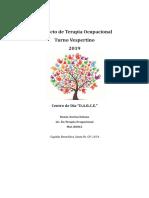 Proyecto de Terapia Ocupacional 2019 - Turno Matutino