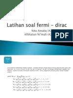 (Nita Dan Afli) Soal Dan Pembahasan Fermi Dirac