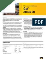 Ficha tecnica Miniexcavadora caterpillar 303.5e2