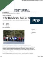 WSJ- Why Hondurans Flee for the US- Mary Anastasia O'Grady