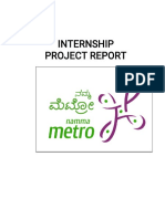 Metro internship report