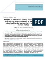 Analysis of the Shape of Bearing Push-extend Reamed Affecting the Bearing Capability of the Pile of Push-extend Multi-under-reamed Pile Through the Finite Element Method