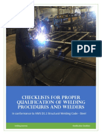 Qualification Checklists for WPS PQR - Welding Answers