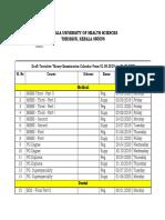 Draft Tentative Calendar 2019 20