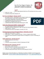 MLF Community Events Schedule