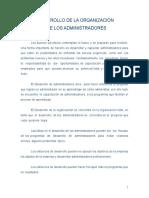 DESARROLLO DE LA ORGANIZACION